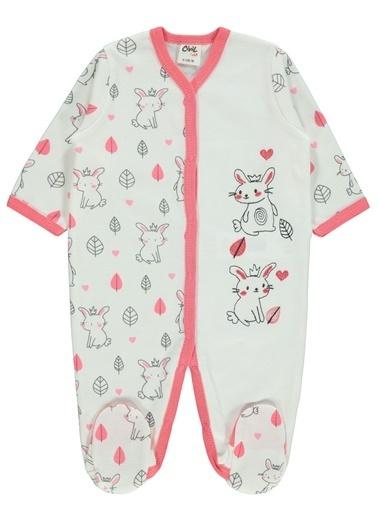 Civil Baby  Kız Bebek Patikli Tulum 0-6 Ay Narçiçeği  Kız Bebek Patikli Tulum 0-6 Ay Narçiçeği Renkli